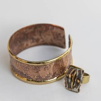 'CHI' Copper Wristband with Ring